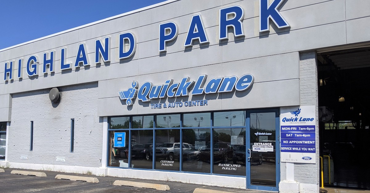 Quick Lane at Highland Park Ford Lincoln